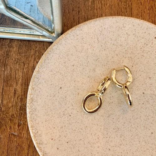 double round pierce / gold
