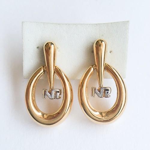 """NINA RICCI"" design earring[e-864]"