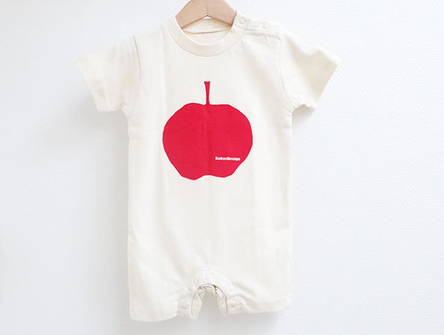 りんごプリントカバーオール