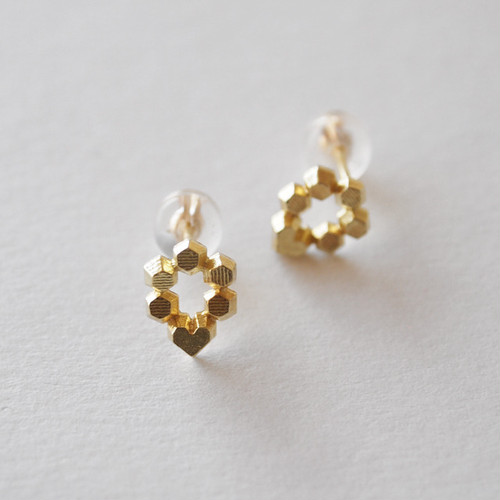 Hex stud earrings - Hex