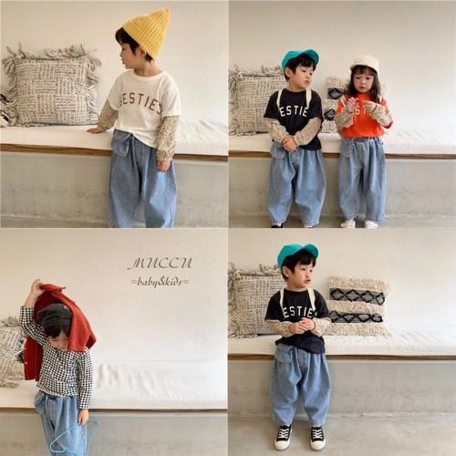 送料無料!《春新作!先行予約販売特別価格1/8まで》サイドポケット デニムパンツ 80cm〜130cm  男の子 女の子 ユニセックス 兄弟 姉妹 双子 赤ちゃん 出産祝い
