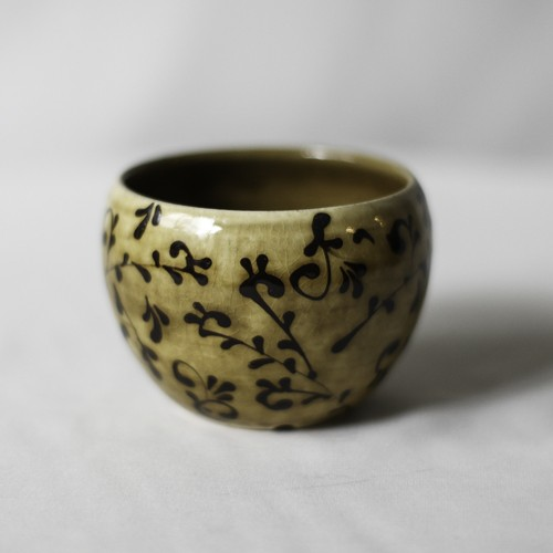SLIPWARE BOWL POT(唐草模様)※YELLOW