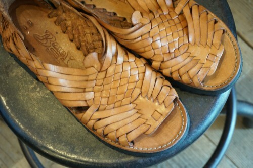BRNDX handcrafted leather huarache Sandals