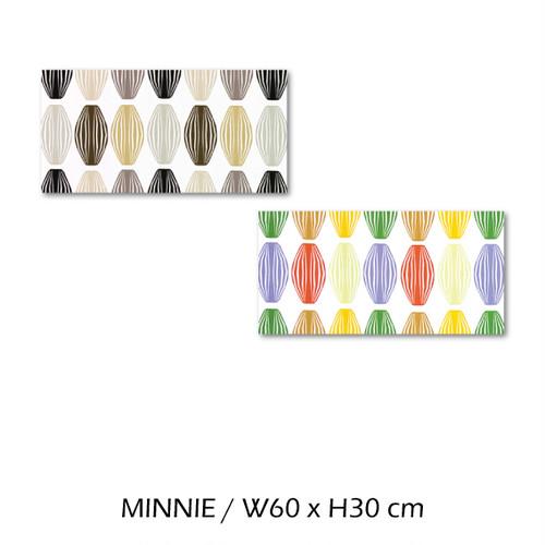 北欧生地 ファブリックパネル 横60 cm x 縦30 cm Kinnamark MINNIE 受注販売商品 (100426)