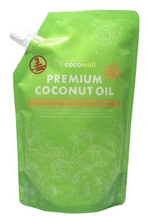 Organic Premium Coconut Oil (No Fragrant)460gココウェルオーガニックプレミアムココナッツオイル無臭タイプ