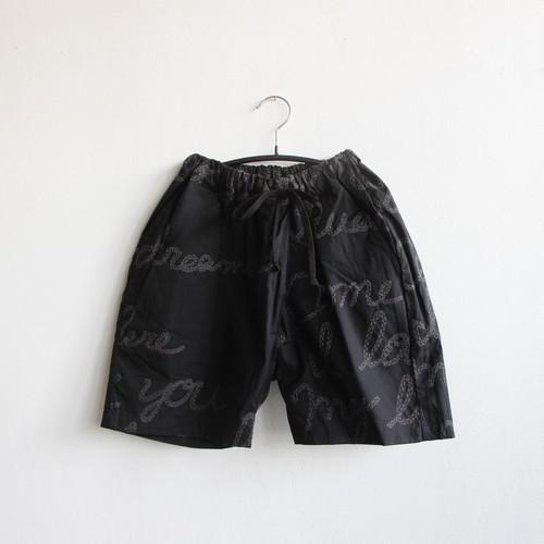 《UNIONINI 2021SS》embroidery short pants / black