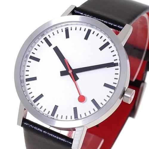 モンディーン MONDAINE 腕時計 メンズ A660.30360.16OM クォーツ ホワイト ブラック ブラッシュシルバー