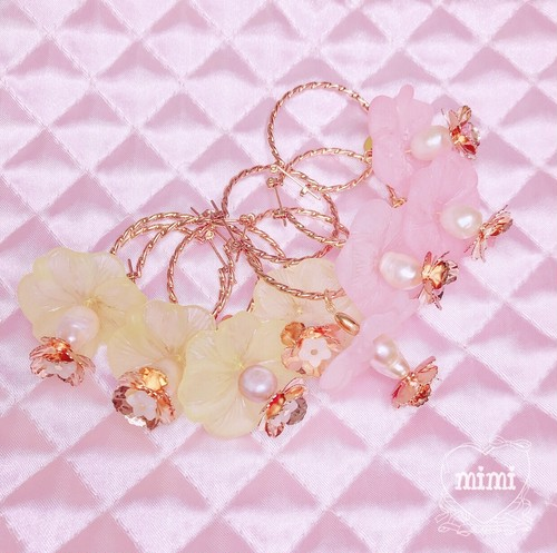 flower skirt hoop pierce