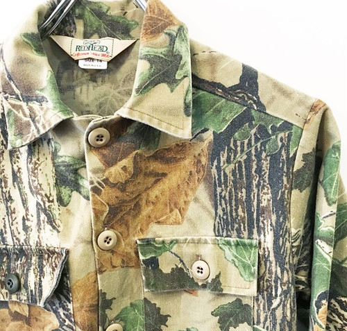 REDHEAD : realtree camo chamois cloth CPO shirt (used)