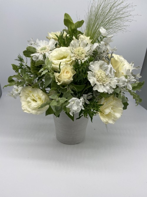 ご来店専用 arrangementsアレンジメント Sサイズ (ホワイト・グリーン系)
