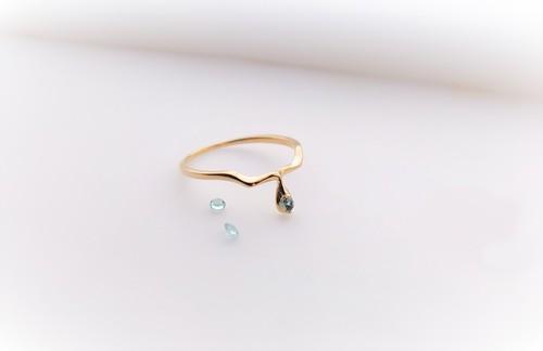 liscio silver (k18plating) ring*アパタイト*(素材変更可能)