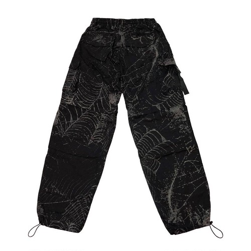 VIRUS WORLD 3M Spider Web Cargo Pants BLACK