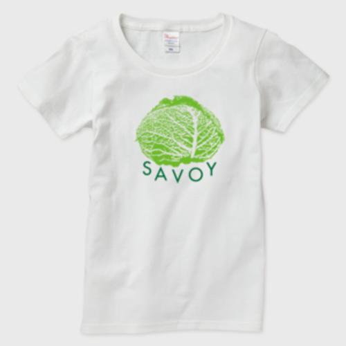 SAVOY(サボイ・キャベツ)1  レディースTシャツ 白