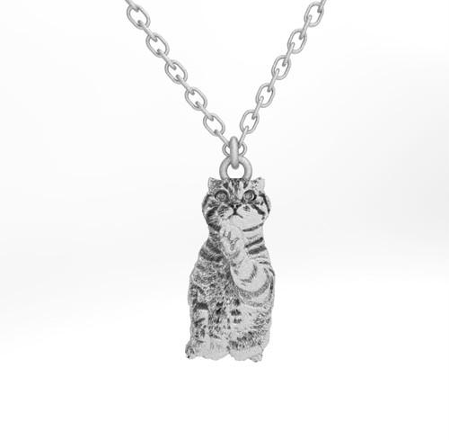 ティノ HOKUSHIN ネックレス シルバー925 チェーン付 猫 ねこ ネコ