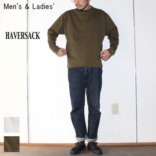 HAVERSACK 高密度コットンプルオーバーT Highdensity Cotton Pullover 411722 (KHAKI)