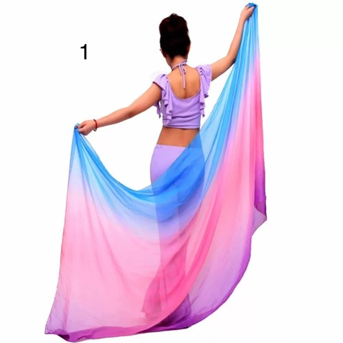 ベリーダンスベールベリーダンスの衣装のシフォンの糸のスカーフの固体ベリーダンスのベールの段階の性能の小道具