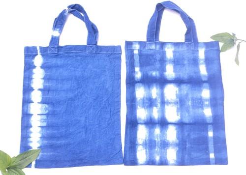 【西日本豪雨災害支援募金】草木染めエコバッグ(藍)