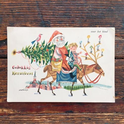 Antique christmas postcard 1958's