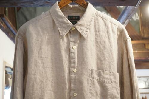 late 80's J.CREW linen Shirt
