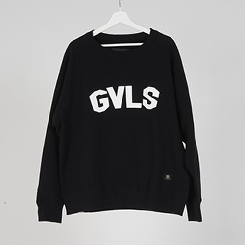 "L/S SWEAT ""GVLS"" (BLACK) / GAVIAL"