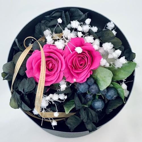 Fran flower★高級プリザーブドローズ「Ruby ring」