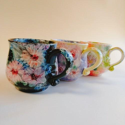 花模様マグカップ  A