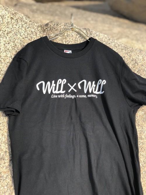 Will×Will logo T-shirts 【Black】