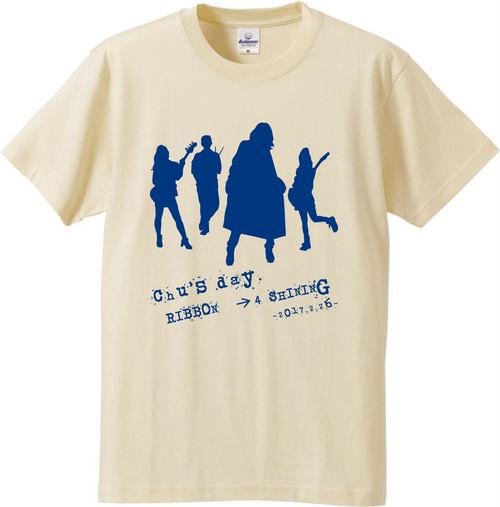 「RIBBON → 4 SHINING」Tシャツ(イエロー)