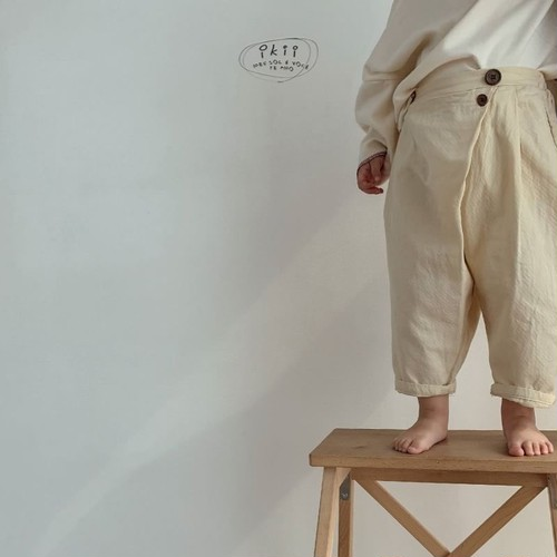 Wrap button trouser by ikii