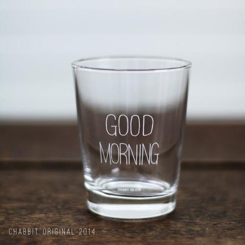 GOOD MORNING GLASS (WHITE)