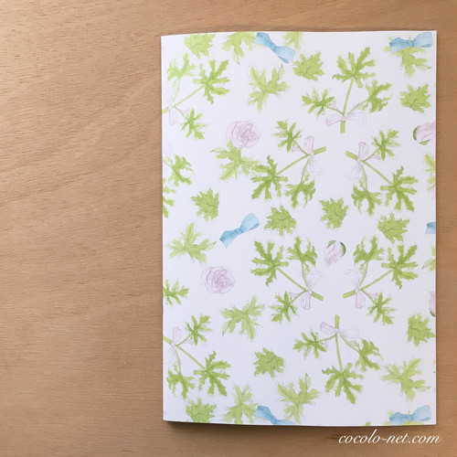 "A5ノート ""Rose geranium and rose"" / Note book"