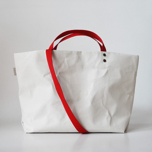 【N/no × E/zel.】SOME WAY LIGHT TOTE BAG (M+)_PP/RED