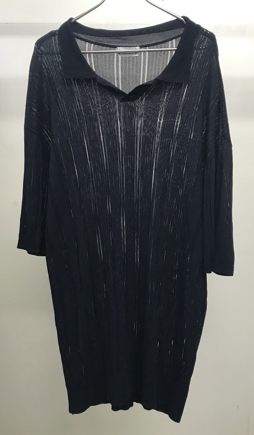 1980s GIANNI VERSACE SEE THROUGH POLO SHIRT