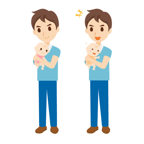 子育て 男性 表情 全身 セット