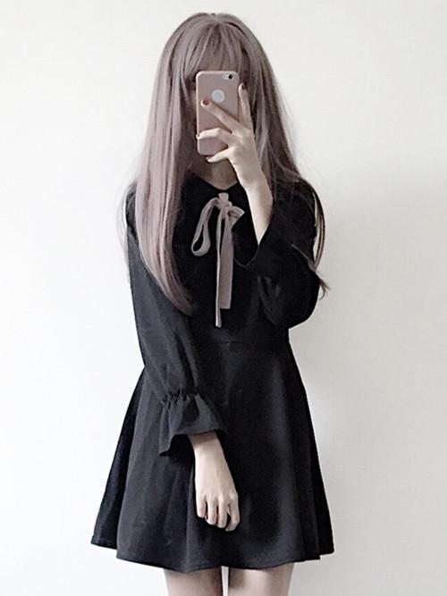 【ワンピース】蝶結び 爽やか スタイル エレガント キュート