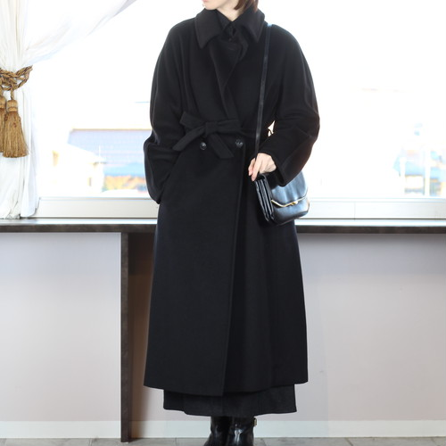 .MAX MARA CASHMERE BREND WOOL BELTED COAT MADE IN ITALY/マックスマーラカシミヤ混ウールベルテッドコート 2000000041087
