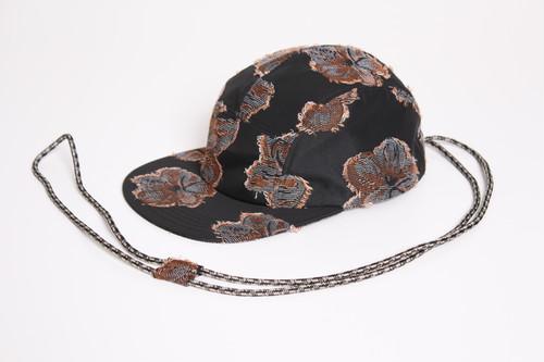 Long long cord Cap (Collab with CA4LA) -black <LSD-BA1AC1>