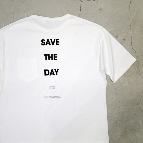 SILENT POETS / OVERSIZED POCKET T-SHIRTS(SAVE THE DAY)