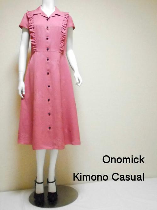 フリル開襟シャツワンピース  Open collar Shirt dress LO-184/M