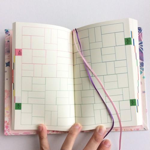 型染め手帳「きおくのきろく」日記