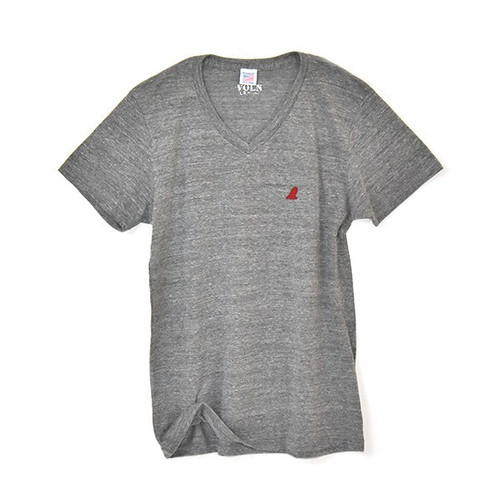 RedFin V Neck Tee Fether Gray