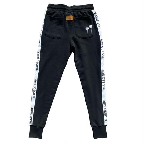 Leather Patch Sweat Pants 【Black】