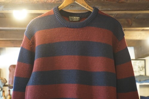 80's Brooks Brothers wool border Sweater