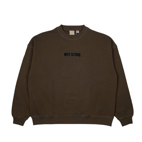 MFC STORE x Goodwear EMBROIDERY SIDE LOGO CREWNECK / BROWN