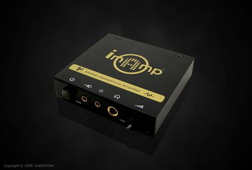 【展示機セール 一点限り】imAmp ポータブルヘッドホンアンプ(アナログ入力のみ)::AUDIOTRAK
