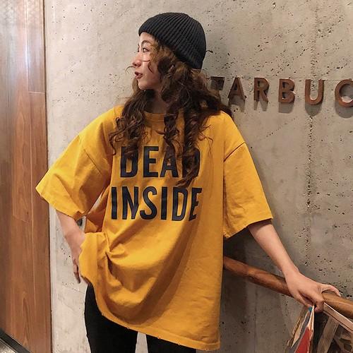 【トップス】ドロップショルダーゆったりシンプルアルファベットTシャツ18940375