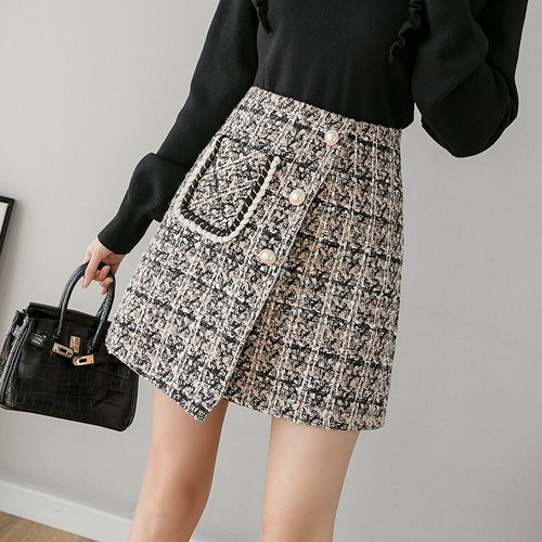 2色/ツイードラップスカート ・12615