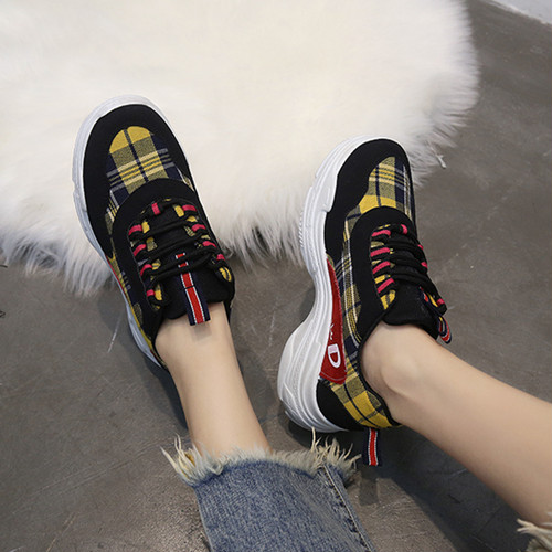 【sneakers】2018 new Korean style  student sports thick bottom sneakers