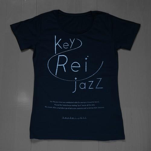 key Rei jazz T-shirts 半袖 黒×シルバーラメ