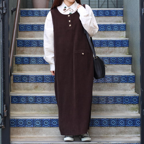 USA VINTAGE CORDUROY NO SLEEVE ONE PIECE/アメリカ古着コーデュロイノースリーブワンピース